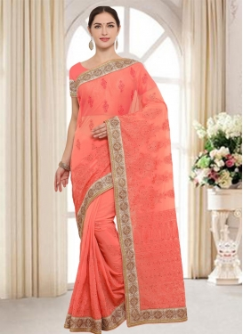Faux Georgette Trendy Classic Saree For Party