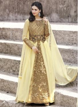 Faux Georgette Trendy Designer Salwar Kameez For Festival