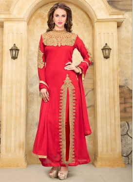 Faux Georgette Trendy Designer Salwar Suit For Festival