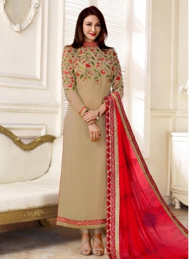 Faux Georgette Trendy Pakistani Salwar Kameez