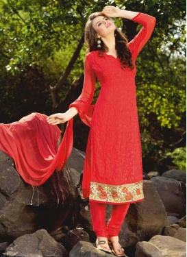 Faux Georgette Trendy Pakistani Salwar Suit