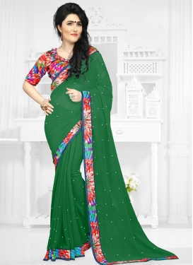 Faux Georgette Trendy Saree For Casual