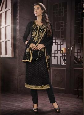 Faux Georgette Trendy Straight Salwar Kameez