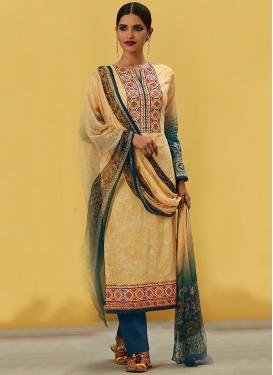Festal  Digital Print Work Pant Style Pakistani Salwar Kameez