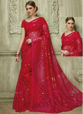 Festal Thread Work Trendy Saree For Festival