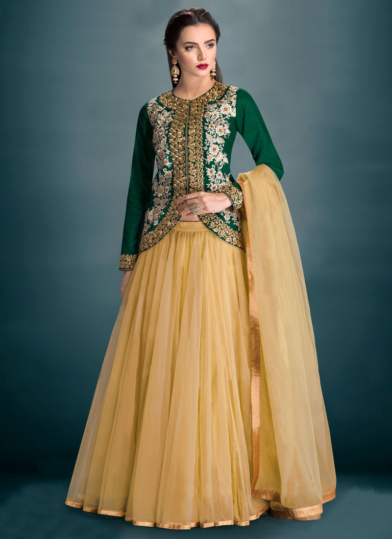 Fetching Banglori Silk Resham Work Party Wear Lehenga Choli