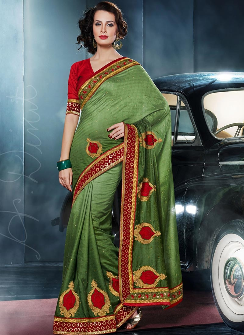 Fetching Booti And Sequins Work Party Wear Saree