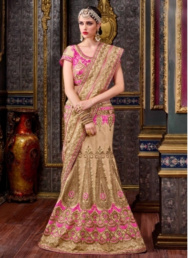 Fetching Booti Work Designer Lehenga Style Saree