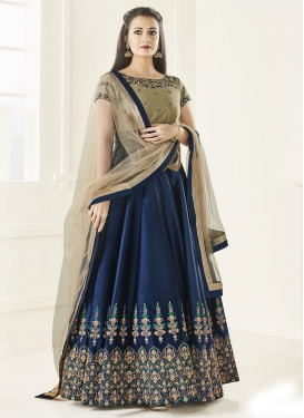 Fetching Dia Mirza Long Length Anarkali Salwar Suit
