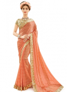 Fetching Faux Georgette Contemporary Saree For Casual