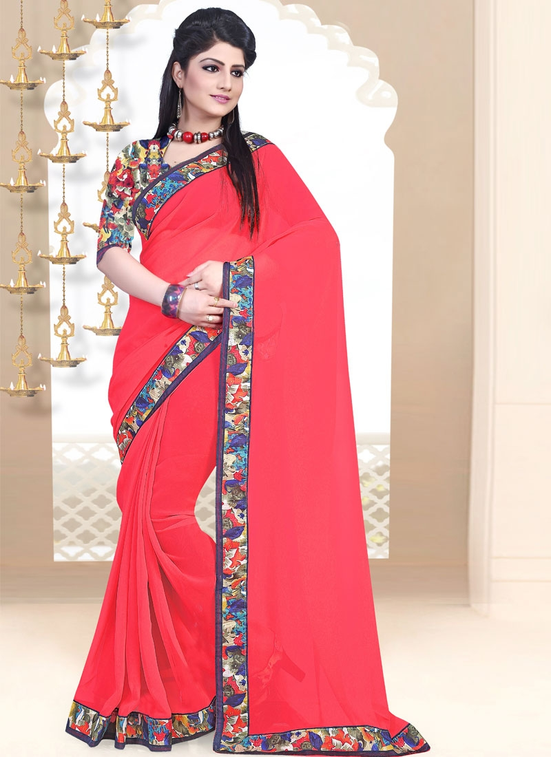 Fetching Lace Work Casual Saree