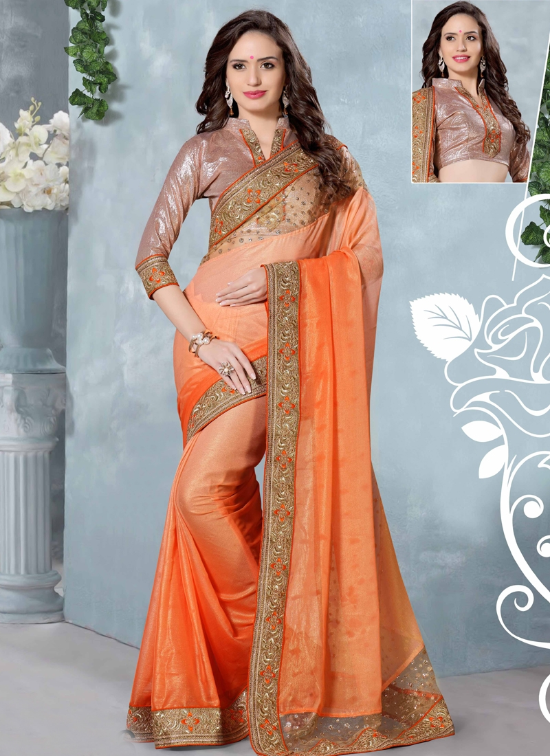 Fetching Patch Border Work Party Wear Saree