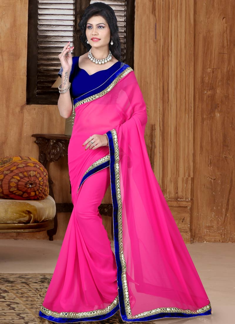 Fetching Rose Pink Color Casual Saree