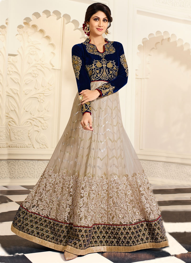 Fetching Sequins Work Shilpa Shetty Designer Salwar Suit