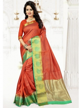 Fetching Thread Work  Art Silk Traditional Saree