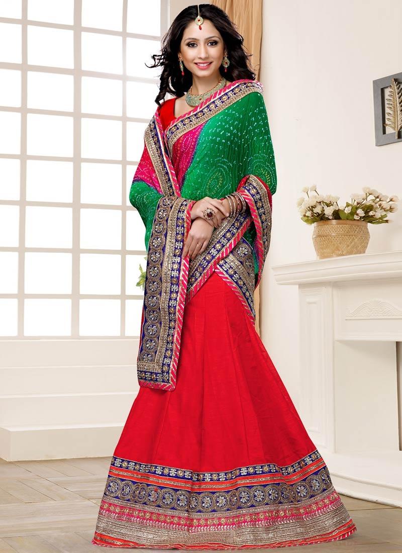 Fine Art Silk Wedding Lehenga Choli