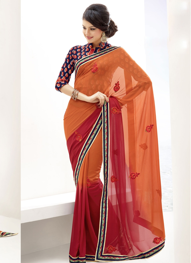 Fine Embroidered Enhanced Casual Saree