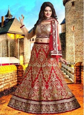 Flamboyant Embroidery Work Bridal Lehenga Choli