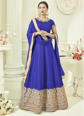 Flamboyant Gauhar Khan Art Silk Floor Length Kalidar Salwar Suit