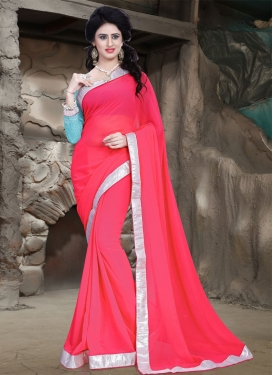 Flamboyant Lace Work Casual Saree