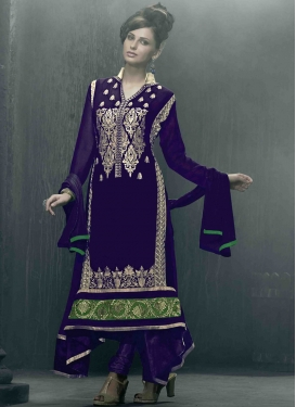 Flamboyant Navy Blue Color Pakistani Salwar Suit