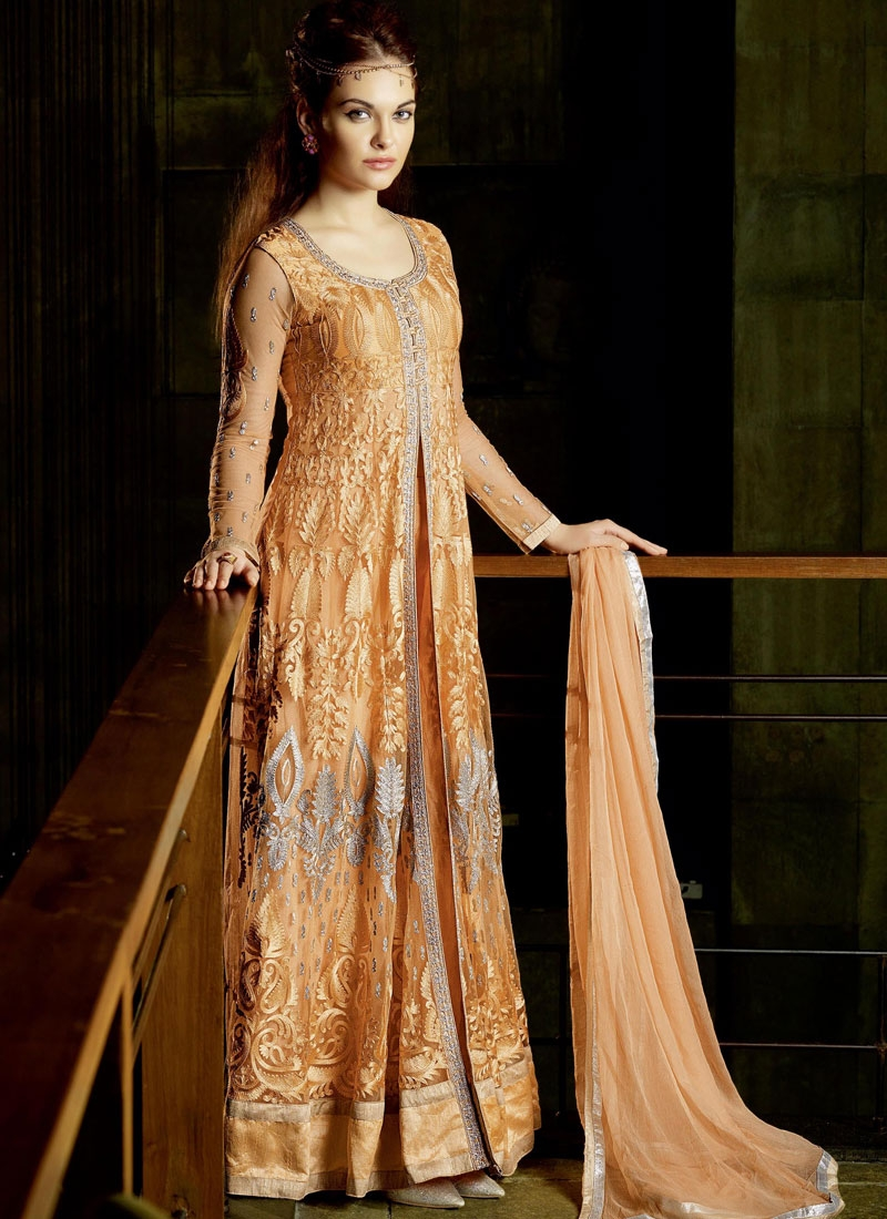 Flamboyant Orange Color Resham Work Designer Salwar Suit