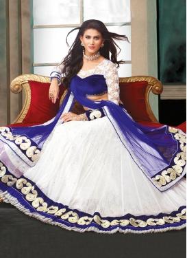 Flamboyant White Color Net Designer Lehenga Choli