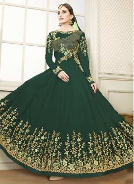 Flaring Anarkali Salwar Suit For Festival