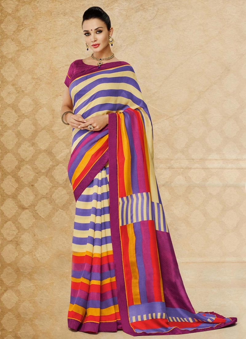Flattering Multi Color Pasmina Casual Saree