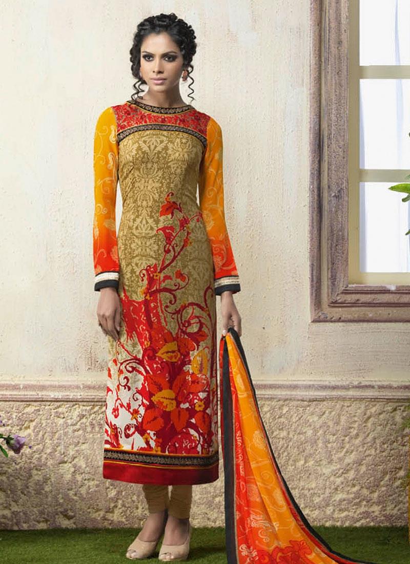 Flawless Digital Printed Churidar Suit