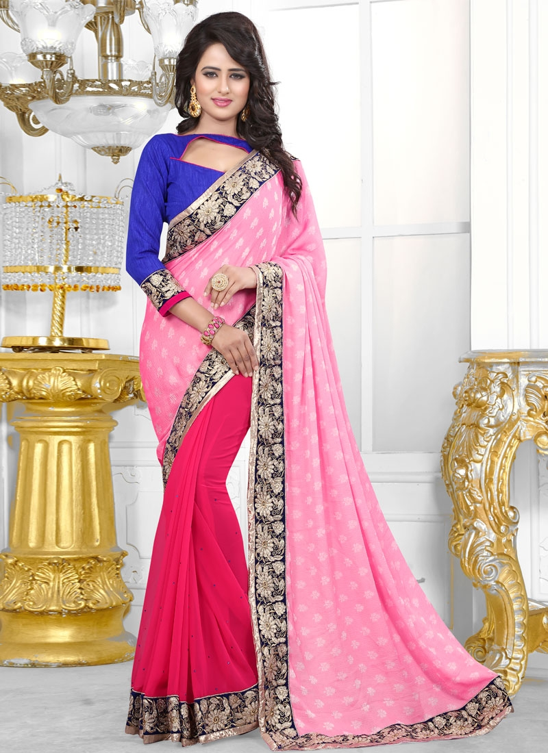 Flawless Jacquard Half N Half Party Wear Saree