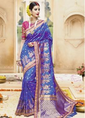 Flawless Jacquard Silk Trendy Classic Saree