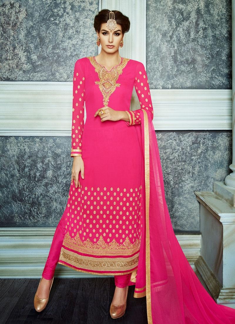 Flawless Lace And Stone Work Pakistani Salwar Kameez