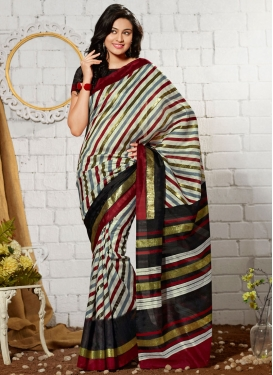 Flawless Printed Art Silk Casual Saree