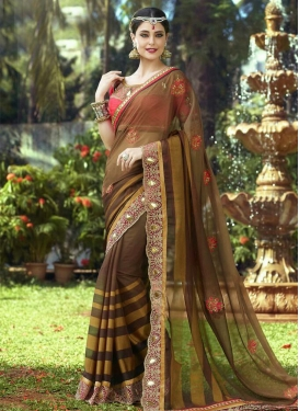 Flawless Resham Work Designer Saree