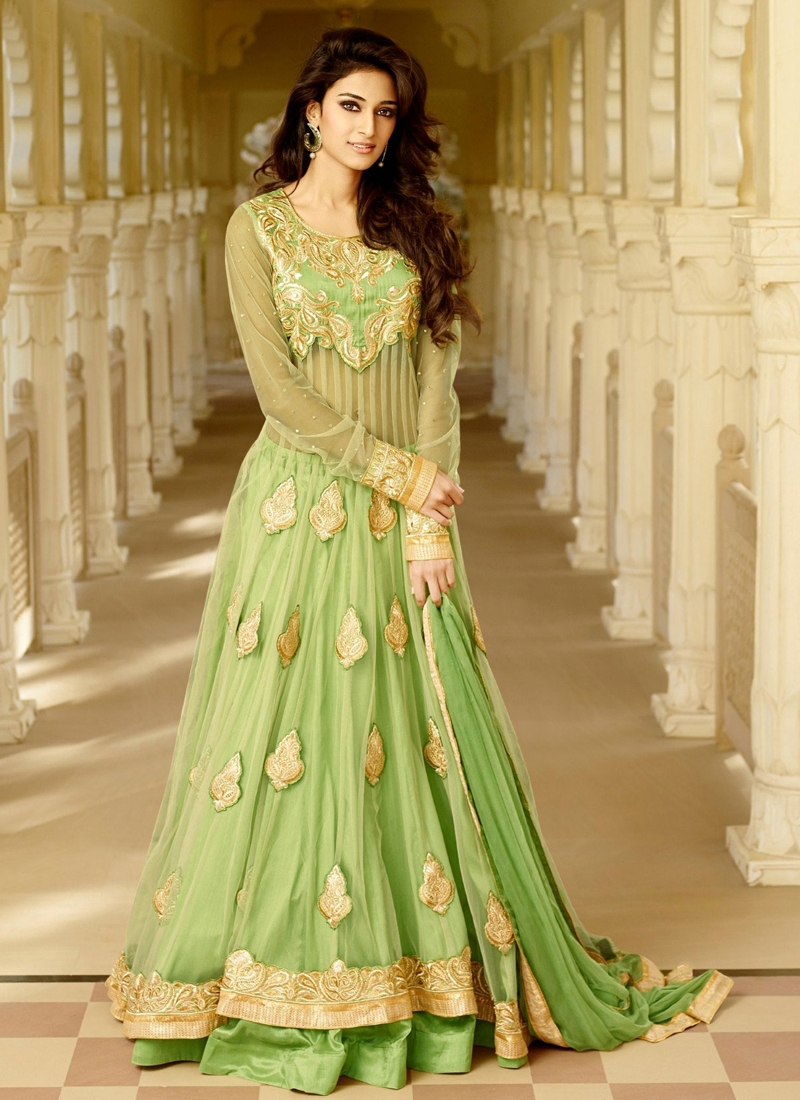 Flawless Stone Work Net Layered Designer Salwar Kameez