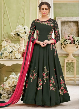 Floor Length Kalidar Suit For Festival
