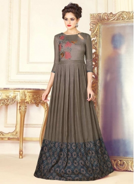 Floor Length Trendy Gown For Ceremonial