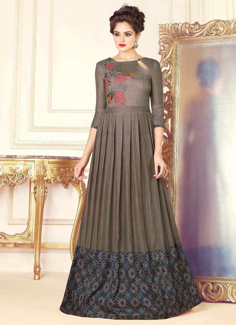Floor Length Trendy Gown For Ceremonial