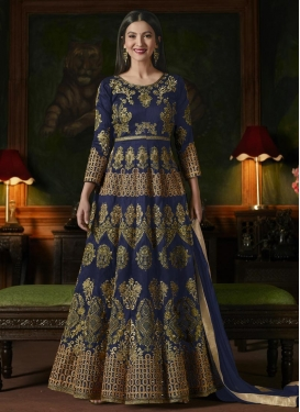 Gauhar Khan Art Silk Floor Length Anarkali Suit