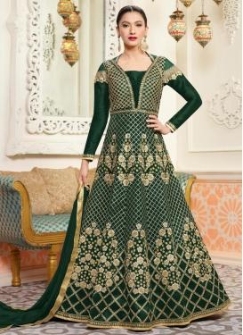 Gauhar Khan Art Silk Floor Length Designer Salwar Suit