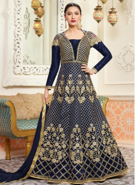 Gauhar Khan Art Silk Trendy Designer Salwar Kameez For Party