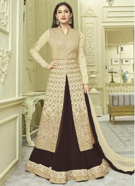 Gauhar Khan Booti Work Kameez Style Lehenga Choli