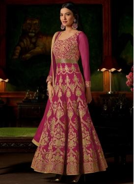 Gauhar Khan Booti Work Long Length Anarkali Salwar Suit