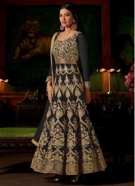 Gauhar Khan Booti Work Long Length Anarkali Suit
