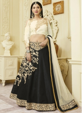 Gauhar Khan Embroidered Work Designer A Line Lehenga Choli