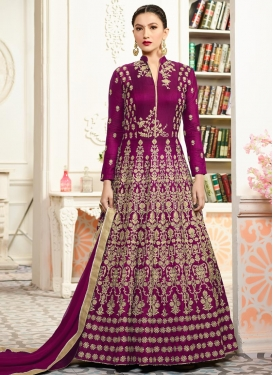 Gauhar Khan Embroidered Work Floor Length Anarkali Suit