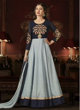 Gauhar Khan Embroidered Work Long Length Anarkali Suit