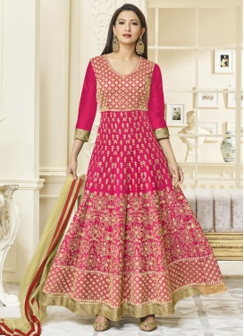 Gauhar Khan Embroidered Work Trendy Anarkali Suit