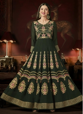 Gauhar Khan Faux Georgette Floor Length Anarkali Salwar Suit